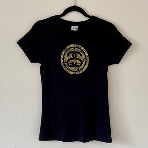 Stüssy • Short Sleeve Graphic Tee • Black/Gold